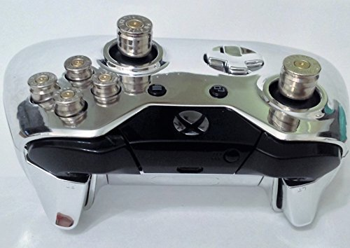 Microsoft Xbox 1 Wireless Custom Chrome Controller One Gamepad Shell Case Silver 9mm Abxy Bullet Buttons 7mm Analog Sticks Free Expedited
