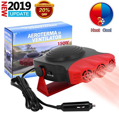 ROYADVE 12V Car Heater & Fan Portable Cooller Defrost Defogger