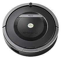 iRobot Roomba 871 - Robot aspirador, sistema de limpieza potente con sensores de suciedad Dirt Detect, aspira alfombras y suelos duros, atrapa el pelo de mascotas, programable, color gris oscuro