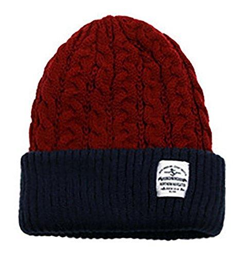 anmengte-unique-slouchy-beanie-unisex-mix-knit-hat-ski-cap-in-2-colors-one-size-burgundy