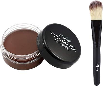 Toamen Popfeel Corrector De Maquillaje Facial Corrector Hidratante Cremoso De La Paleta De La FundacióN (E1): Amazon.es: Belleza