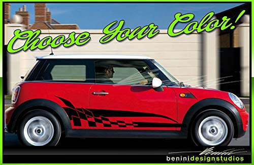 Mini Cooper Vinyl Graphics Stripes Decals R50 R56 F55 All Years (White)