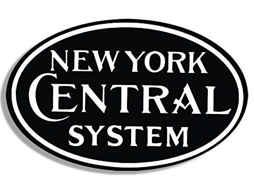 (American Vinyl Oval New York Central System Railroad Sticker (Train Rail rr))
