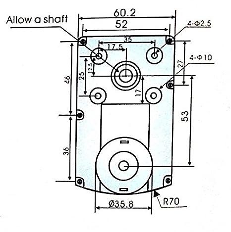 12v Dc Square Gear Geared Motor