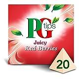 PG Tips Red Berries Tea - 20's - Pack of 4 (20's x 4) (0.99 oz x 4)
