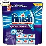 Mega Value Finish Quantum Max Fresh, Automatic Dishwasher Detergent Tablets 300 Capsules