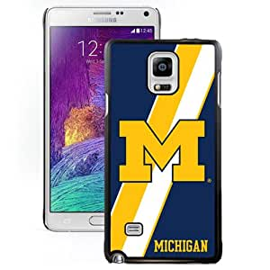 Fashionable And Unique Designed With Ncaa Big Ten Conference Football Michigan Wolverines 5 Protective Cell Phone Hardshell Cover Case For Samsung Galaxy Note 4 N910A N910T N910P N910V N910R4 Black