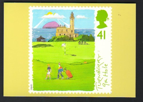 Turnberry Golf - Royal Mail Golf Courses Turnberry 9th Hole Official Stamp Postcard