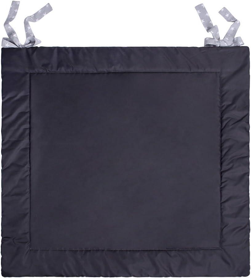 Mint LULANDO Tappeto Di Gioco Tappetino Per Bambini Disponibile In Tre Dimensioni Certificato OekoTex Standard 100 Grey Stars Misura 120 cm x 120 cm Colore