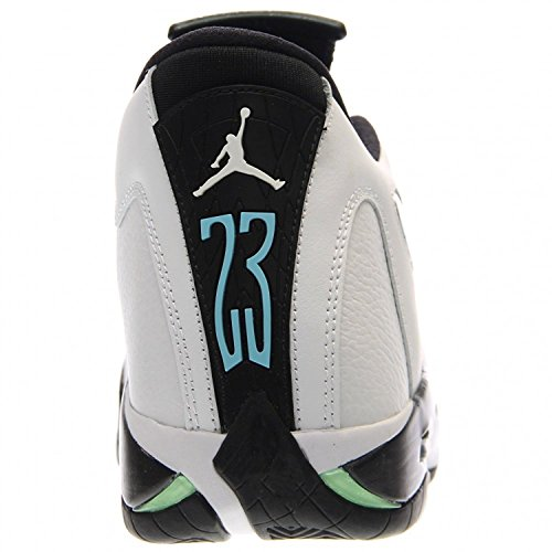 Nike Herre Air Jordan 14 Retro BasketballSko Hvid / Sort / Grøn / Legende Blå GG3Cr