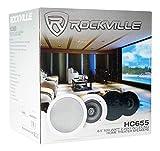 "10) HC655 6.5"" 500 Watt Black In-Ceiling Home"