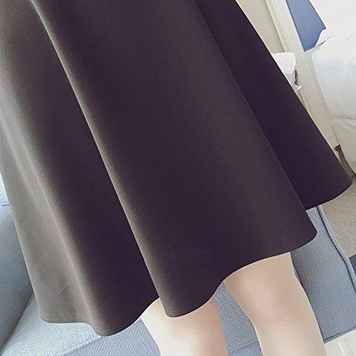 Vestito Allattamento Premaman donna 3 XFentech in Girocollo Estate a chiffon maniche Style corte gvCBwqv