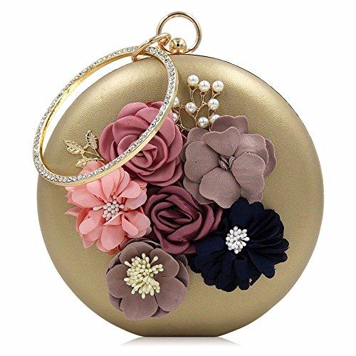 de en de de diamants soirée pearl sac black sexy sac robe autour Golden 2018 haute soirée fleurs de perles nouveau brodées qualité qSUBWF4pc