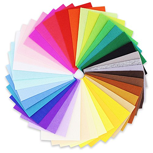 My CraftFelt | 42pcs Polyester Craft Felt 7.9 x 11.8 Inch Non-Woven Eco-Friendly Fabric Sheet | Bright Multicolor for DIY Projects Costume Decor Cloth Patchworks Handicraft Sewing | ()