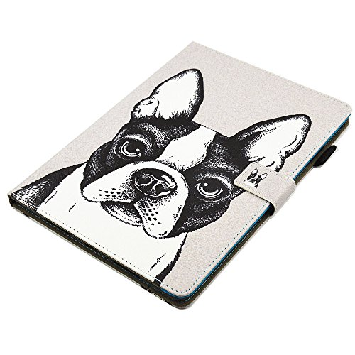iPad Pro Case 10.5'', Auto Sleep & Wake Function Protective Flip Painting Wallet Case PU Leather Kickstand Cover Soft TPU Interior Magnetic Shell with Stylus Pen for iPad Pro 10.5 by Badalink - Dog by Badalink (Image #4)