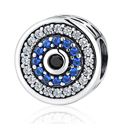 Eternalll Evil Eye Charms Authentic 925 Sterling Silver Fit Pandora Charms Bracelets,Blue Eyes Dangle Hand Beads Home Family Heart Love Dangle Spacer Charms Beads for Bracelet or Necklace