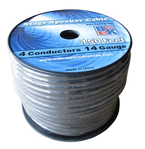 Blast King IRS1X4X14-150 150-Feet Stage Speaker Cable 14 Gauge 4 Cond Single Jacket