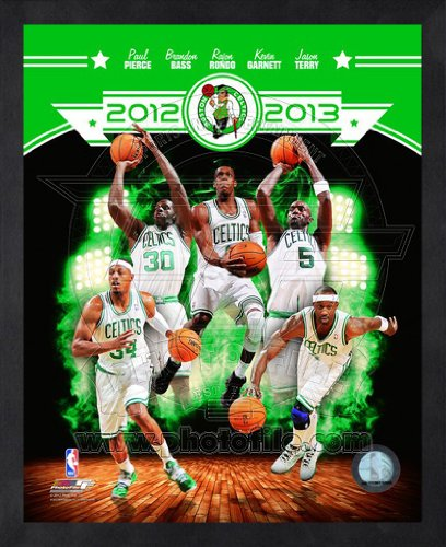 2012 Team Framed Photo - Boston Celtics 2012-2013 Framed NBA Team Composite Photo 16x20