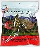 Colorado Naturals All Natural Pig Ear Strip Dog Treats 24-Count
