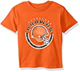 """NFL Youth Boys """"Cannon Ball"""" Short Sleeve Tee-Orange-XL(18), Cleveland Browns"""