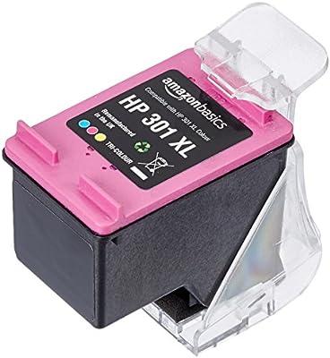 AmazonBasics - Cartucho de tinta regenerado, HP 301XL, tricolor ...