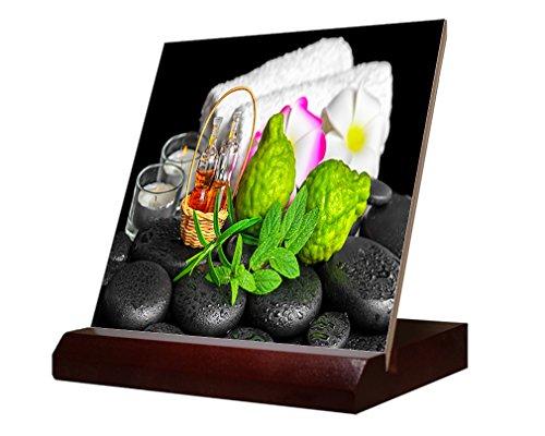 Aromatic Spa Set Bergamot Fruits Fresh Ceramic Tile & Stand 6