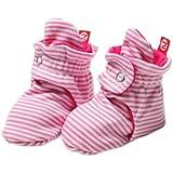 Zutano Unixex Baby Candy Stripe Bootie, Hot Pink, 6 Months