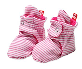 Zutano Baby-Girls Infant Candy Stripe Bootie, Hot Pink, 6 Months