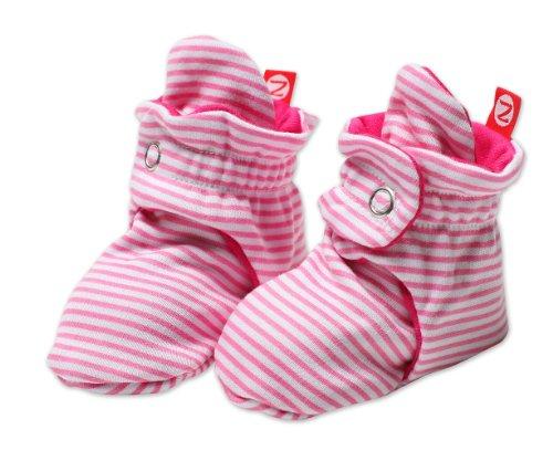 (Zutano Unixex Baby Candy Stripe Bootie, Hot Pink, 18 Months)