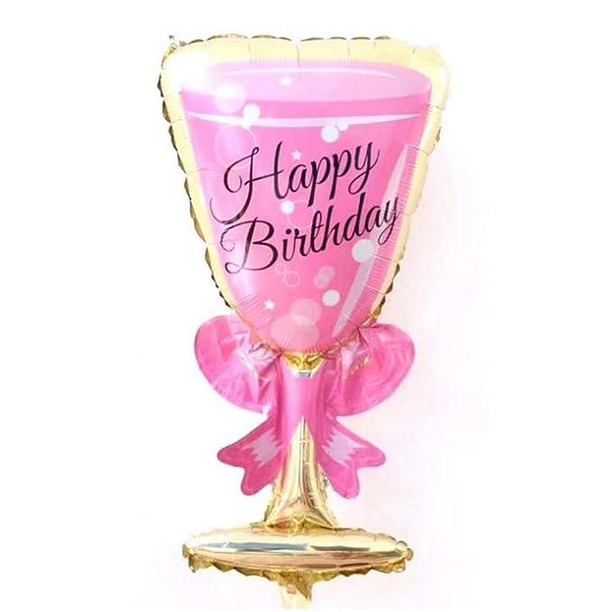 Balloons 20PC Rosa Copa Champagne Cerveza Botella Foil Globos San Valentín Decoración de bodas Inflables Globos de aire Decoraciones para fiestas de ...
