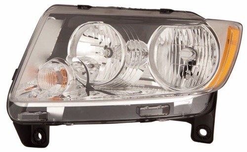 Go-Parts » 2011-2013 Jeep Grand Cherokee Front Headlight Assembly Replacement Housing/Lens/Cover - Left (Driver) Side 55079379AF (Jeep Grand Cherokee Headlight Cover)
