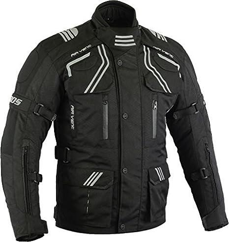 XXXL Motorradbekleidung Biker Kombi Zweiteiler Motorradkombi Schwarz Herren