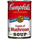 Campbell's Condensed Soup, Cream of Mushroom, 10.5 Ounce (Pack of 48)