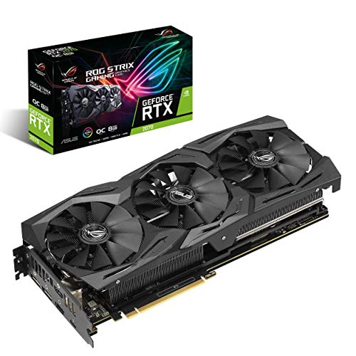 ASUS GeForce RTX 2070 Overclocked O8G GDDR6 HDMI DP 1.4 USB Type-C Graphic Card (ROG-STRIX-RTX2070-O8G-GAMING)