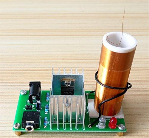 DIY Mini Tesla Coil Kit 15W Mini Music Tesla Coil Plasma Speaker Tesla Wireless Transmission DC 15-24V Dingdong Store