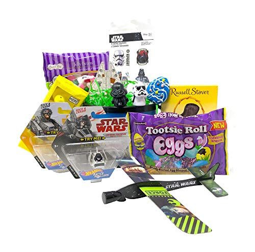Star Wars Easter Basket Pre Filled with Easter Candy, Easter Toys, Easter Basket Filler, and Easter Basket Grass | Great for Kids, Boys and Girls -