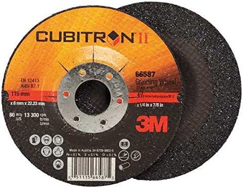 "10-Each 3M Cubitron II 78466 4-1//2/"" X 1//4/"" X 7//8/"" Type 27 Grinding Wheel"