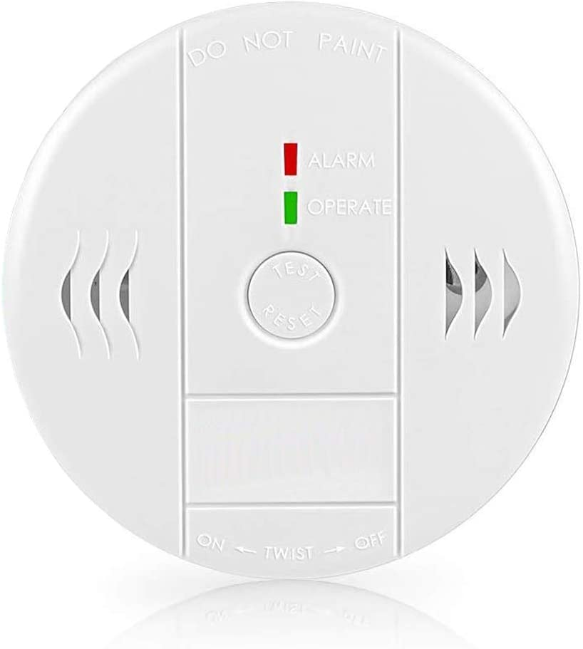 Combination Smoke and Carbon Monoxide Detector Alarm, GLBSUNION Beep Voice Warning Smoke and CO Alarm for Basements Travel Home Office Kitchen Bedroom, Battery Operated, Comply with UL 217/2034,1-Pack