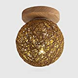 Ceiling Lights YXGH- Northern Europe Log Small Simple Entrance Aisle Light Japanese-Style Corridor Stairs Cloakroom Bay Window Balcony Home Fixture Children's Ceiling lamp