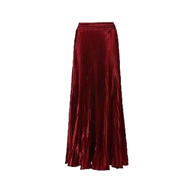 Falda Larga Plisada para Cintura Falda Alta Mujer De Una Ropa ...