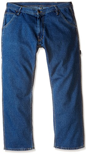 Key Apparel Men's Performance Denim Dungaree, Indigo, 38W x 30L - Dungarees Carpenter Jean