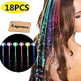 Led Light Hair, Kapmore 18 Pcs LED Hair Lights Extensions Flashing Light LED Hair Clips Light Up Toy for Girls Women to Birthday Festival Party Bar Concert Reviews
