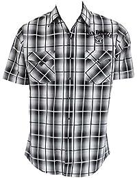 Short Sleeve Button Down Plaid Shirt