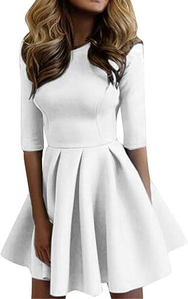 Vestito di Natale Gonna Stampa Abito Manica Lunga Vintage con Cintura Cocktail Abbigliamento Abiti da Sera Vestiti Casuale Vestiti Lunghi Eleganti Ragazza Anni 50 Cerimonia Hepburn Abiti