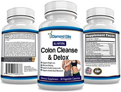 Diamond Elite's Natural 15 Day Advanced Best Colon Cleanse Detox Formula   Best Colon Cleanser & Detox for Weight Loss - 100% Money Back Guarantee!