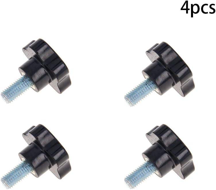Othmro 4PCS Star Knob Grip M12x25mm Male Thread Steel Zinc Stud Replacement PP