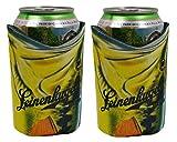 Leinenkugels Fishing 12 oz Beer Can Kaddy Coolie Huggie Cooler Set of 2 For Sale