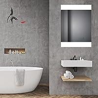 Potsdam 60x80cm Badezimmerspiegel Oben und unten beleuchtet Montage Hoch- und Querformat möglich HOKO® LED Bad Spiegel beleuchtet Energieklasse A+