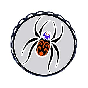 Chicforest Ancient Style cute Halloween spider cartoon Round Pin Brooch