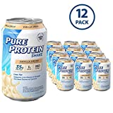 Pure Protein Ready to Drink Shakes, High Protein Vanilla Cream, 11oz, 12 count